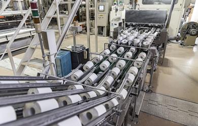 リサイクルシステムとトイレットペーパー製造工程